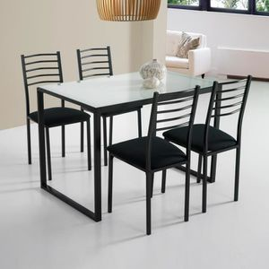 Table et chaise de cuisine en verre achat vente table for Ensemble table et chaise de cuisine