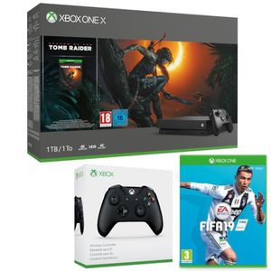 CONSOLE XBOX Xbox One X 1 To Shadow of The tomb Raider + 2e man
