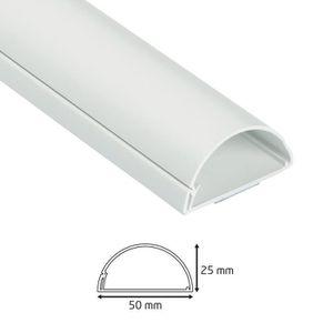 GOULOTTE - CACHE FIL D-Line 50x25mm Moulure Décorative en Demi-Cercle  