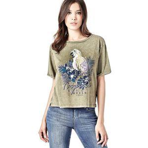 T-SHIRT Guess T-Shirt Femme Tropicali Tee Marron