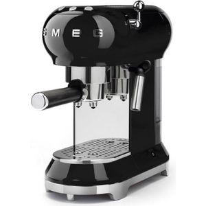 MACHINE À CAFÉ Smeg - machine à expresso 15 bars noir - ecf01bleu