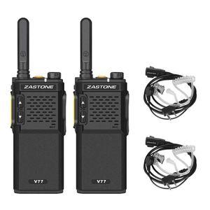 TALKIE-WALKIE 2PCS talkie walkie Zastone V77 avec oreillette 3W