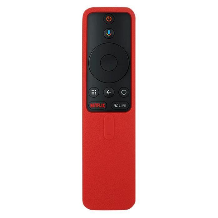 Télécommande,Housses pour Xiaomi Mi TV Box s Bluetooth Wifi Smart boîtier de télécommande Silicone antichoc protecteur - Type Red