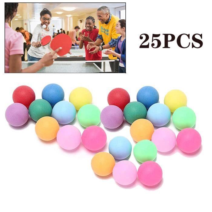 50pcs - pack boules de tennis de table de divertissement de 40mm de balles colorées sp3828