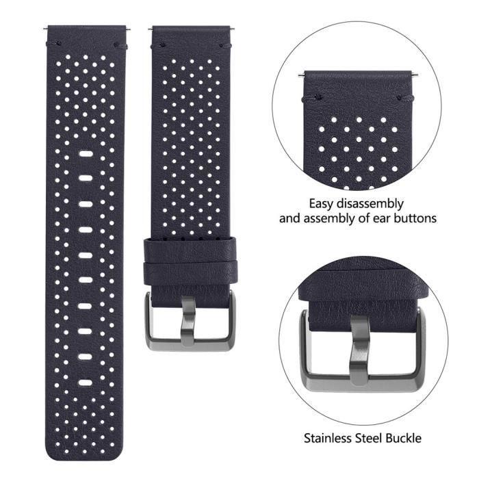 bracelet de montre vendu seul Bracelet en cuir de luxe de remplacement pour bracelet de montre intelligente Fitbit Versa 2