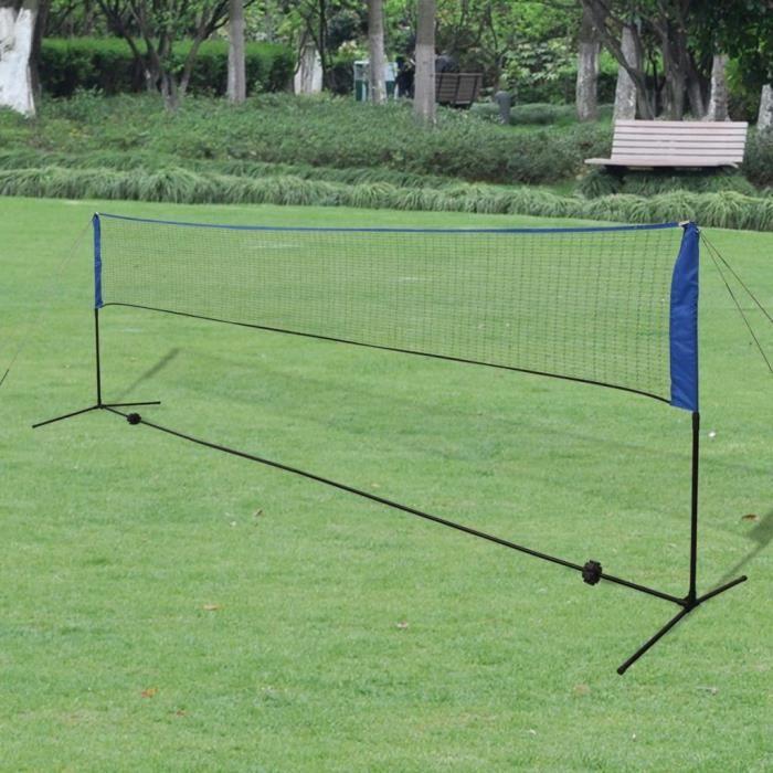 Filet de badminton avec volants 500 x 155 cm---ETO