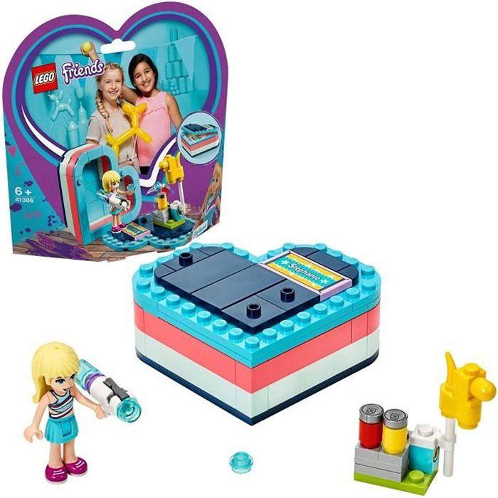 LEGO Friends - La boîte cœur d'été de Stéphanie, Jouet pour Fille et Garçon à Partir de 6 Ans et Plus, 95 Pièces - 41386