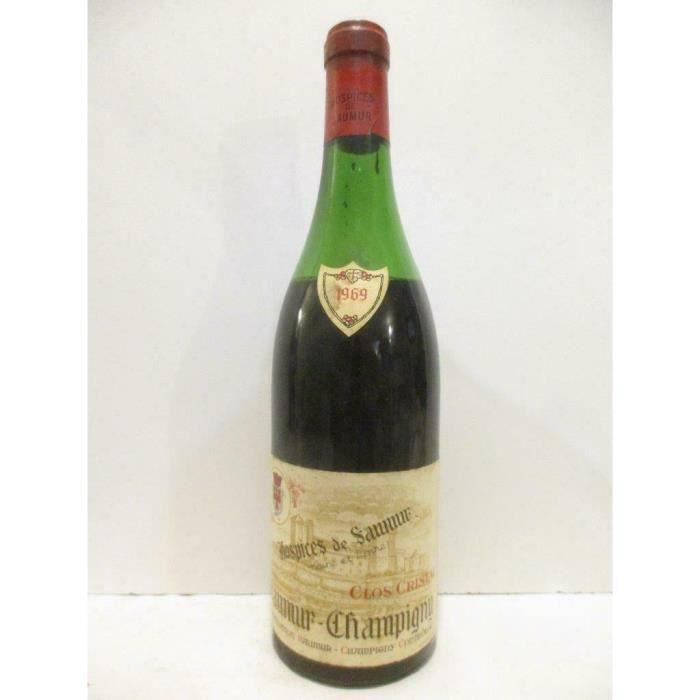 saumur-champigny hospices de saumur clos cristal Rouge 1969 - loire - anjou