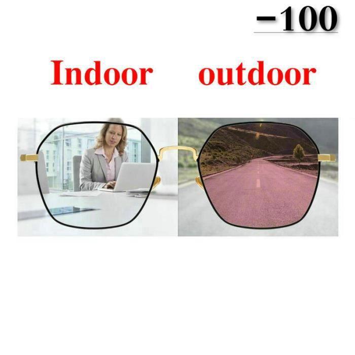 Montures de Lunettes de vue,Lunettes solaires photochromiques pour femmes Élégantes optiques pour femmes finies - Type white-100