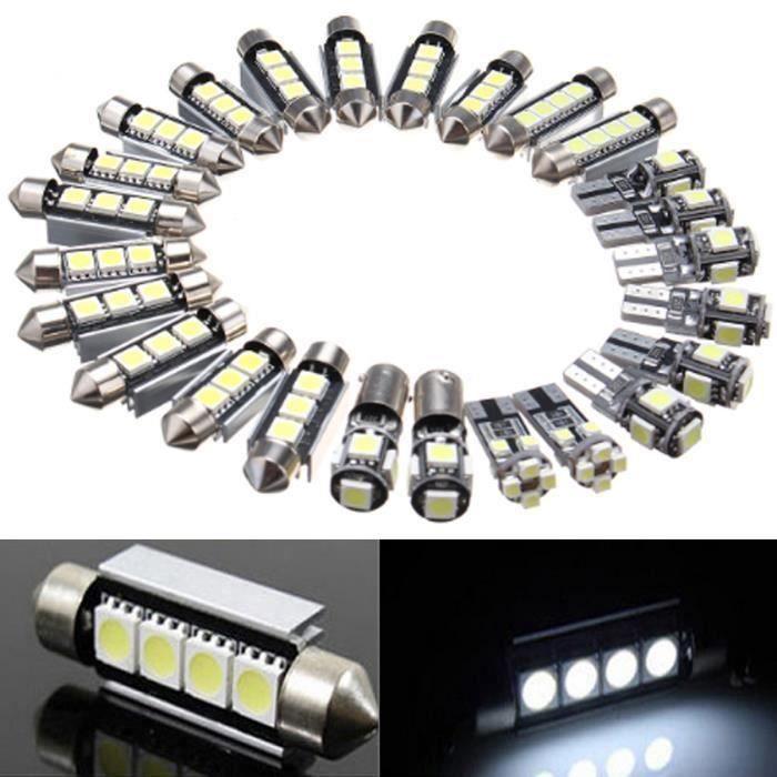 U 26Pcs LED Ampoule Décor de Intérieur Voiture Pour Mercedes Benz W211 E Class03-09 @QCP
