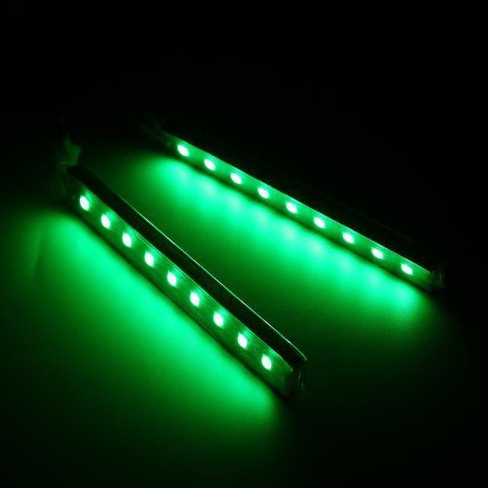 AVANC Lampe Ambiance Voiture 9 LED Barre Lumière VERT