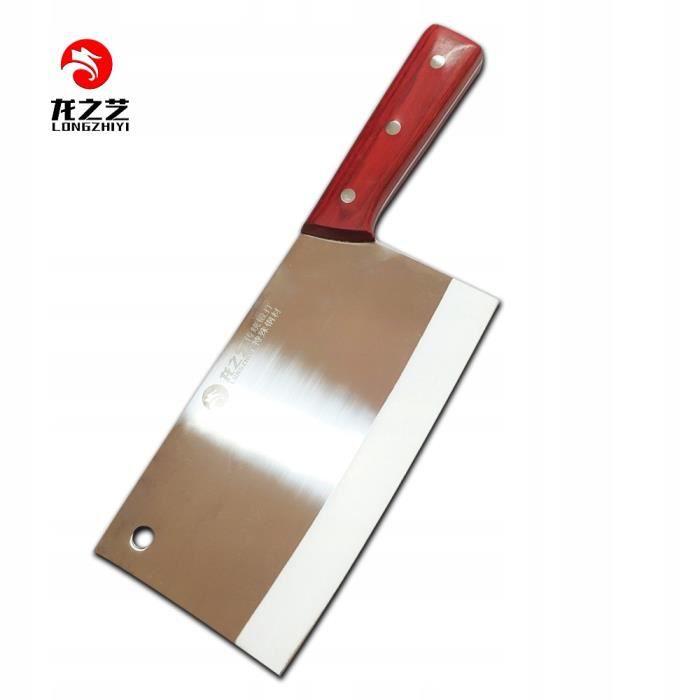 Couteau de chef chinois couteau de cuisine couperet à viande forgé LONGZHIYI