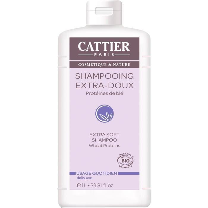 CATTIER Shampooing ExtraBioDoux Usage Quotidien 1 L