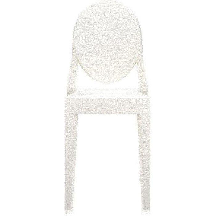 Chaise Kartell Victoria Ghost - Blanc Brillant