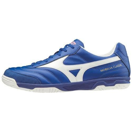 Chaussures de football Mizuno Morelia sala classic indoor - bleu électrique/blanc - 41