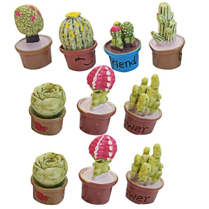 10 pièces succulentes plante en pot Simulation Mini décoration de la maison en PLANTE POUSSEE