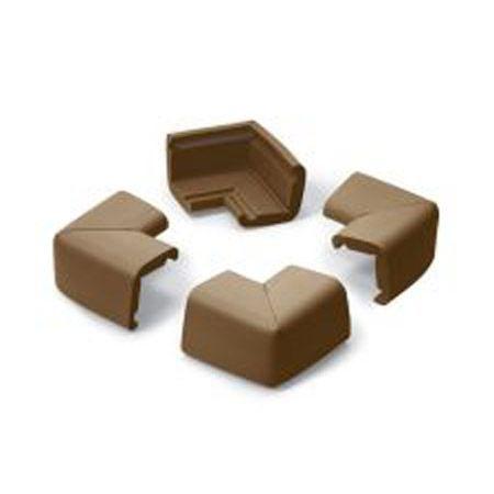 4 COINS de table, petit modèle - coloris chocolat