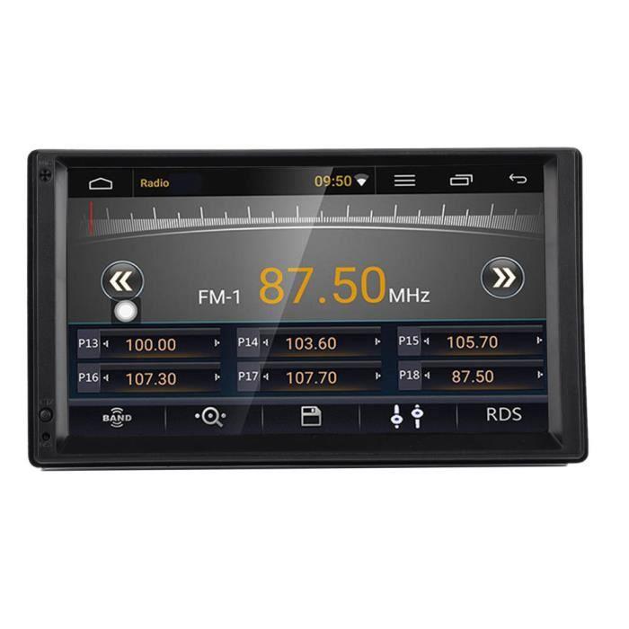 Qiilu Lecteur d'autoradio Voiture 7' 2 Din pour Android 10.0 Radio Stéréo Lecteur MP5 avec Navigation GPS Multimédia BT WIFI