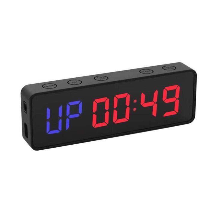 Fitness Minuteur Portable Mini Timer Sport sans Fil Fixation Magnétique Minuteurs Musculation Horloge