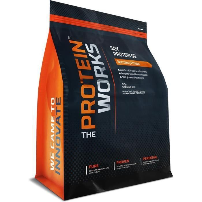 The Protein Works - Protéine de Soja 90 - Protéine Pour Végétaliens et Végétariens - Shaker et Cuillère Doseuse Gratuits - Nature -