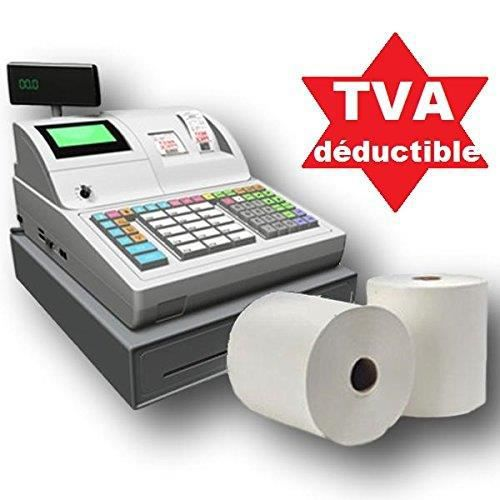 50 bobines papier thermique pour caisse enregistreuse ticket de caisse recharge standard rouleau 80 x 80 x 12 mm papier thermique 50