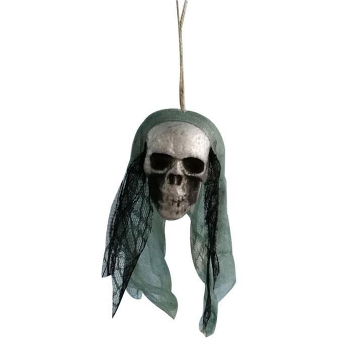 Halloween Ornement Suspendre Pirates Tête Crâne Hanté Maison Bar Décor Jardin NF