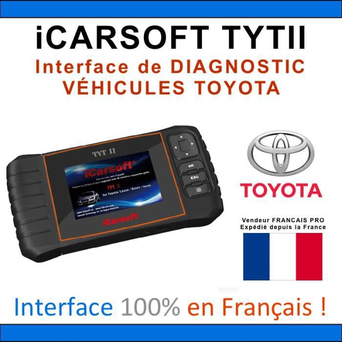 valise diagnostic toyota icarsoft tyt ii obd2 tech stream mini vci auto achat vente. Black Bedroom Furniture Sets. Home Design Ideas