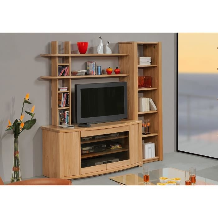Meuble t l olympe 4p orme massif orme achat vente meuble tv meuble t - Meuble tele discount ...