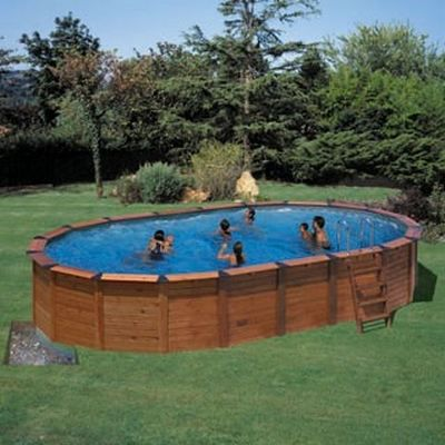piscine semi enterree star pool bois acier achat. Black Bedroom Furniture Sets. Home Design Ideas