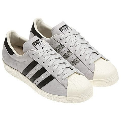 Blanc Chaussures Adidas Superstar Cage 80s Homme Vente