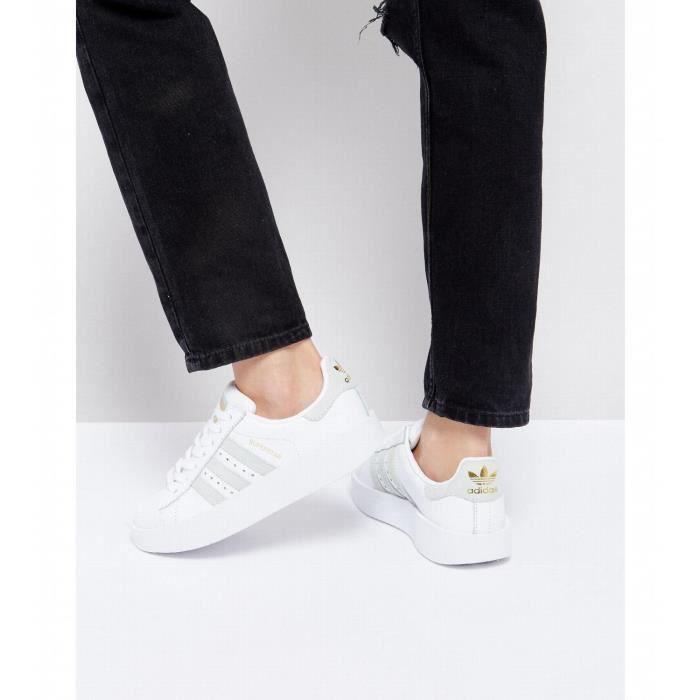 Adidas Originals - Superstar - Baskets à semelle épaisse - Blanc ...
