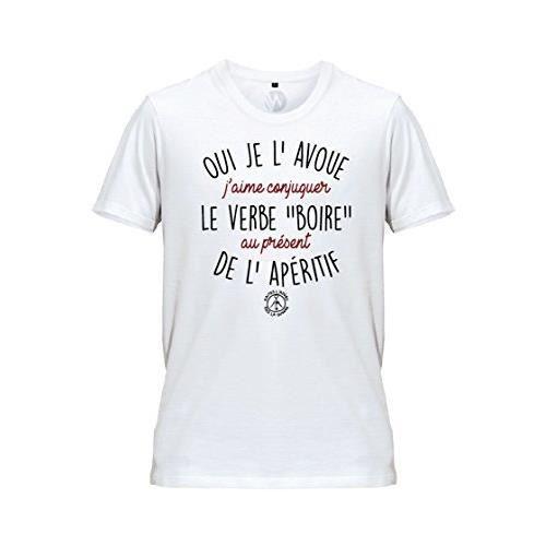 Wazzis Conjuguer Boire A L Aperitif T Shirt Apero Message Humour Homme Blanc Achat Vente T Shirt Soldes Sur Cdiscount Des Le 20 Janvier Cdiscount