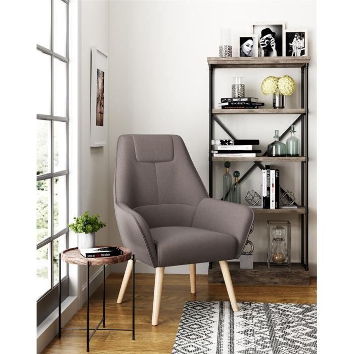 COPENHAGUE Fauteuil Salon Scandinave GRIS - Achat / Vente ...