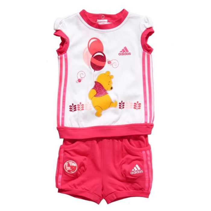 adidas surv tement disney b b fille rose et blanc achat vente surv tement de sport cdiscount. Black Bedroom Furniture Sets. Home Design Ideas