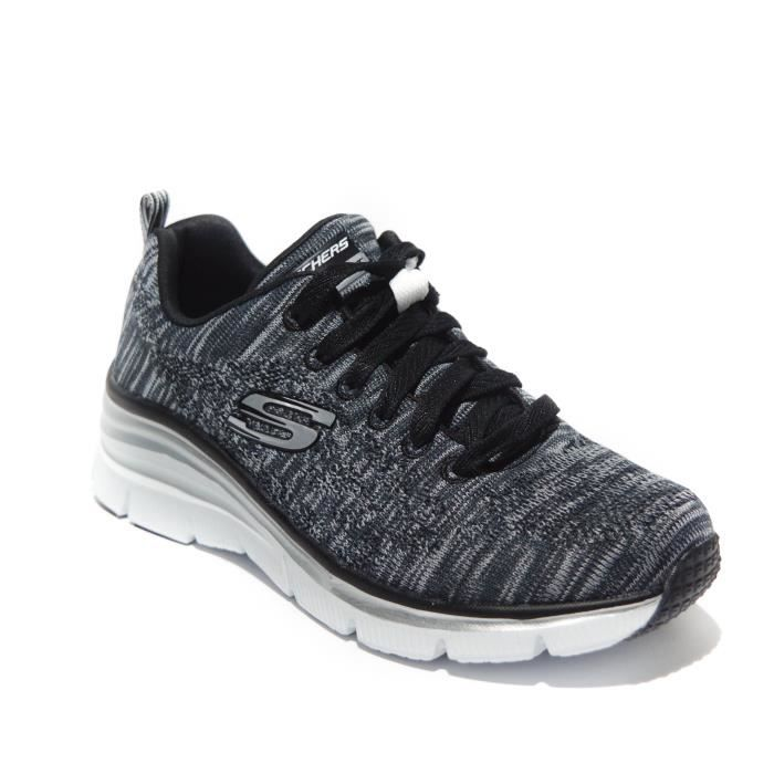 Skechers Fashion Fit Basket femme noir-blanc memory foam art.12703-bkw T. 41