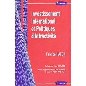 LIVRE GESTION Investissement International et Politiques d'Attra