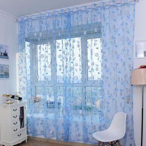 RIDEAU Bronzante fenêtre Pivoine écrans Porte balcon Ride