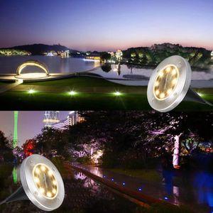 LAMPE DE JARDIN  yumyumis® Paquet de 2 Jardin Chemin 8LED Lumières