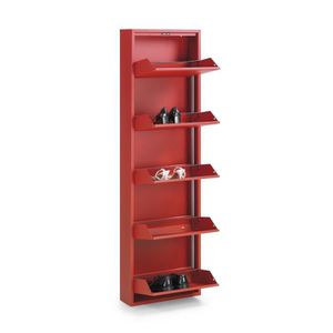 meuble chaussure metal rouge. Black Bedroom Furniture Sets. Home Design Ideas