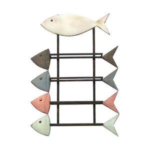 poisson marine Manteau en bois crochets muraux chambre enfants salle de bain nurserie vestiaire