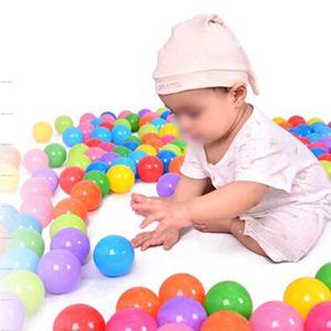 BALLE - BOULE - BALLON 50pcs 5.5cm piscine balles bebe plastique Coloré o