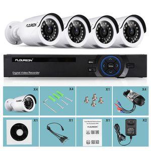 CAMÉRA DE SURVEILLANCE FLOUREON Kit de caméras de surveillance - 1x 8CH +
