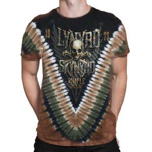 New LYNYRD SKYNYRD Simple Man Tie Dye T Shirt