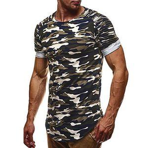T-SHIRT Mode Personnalité Camouflage Casual Slim Shirt à m