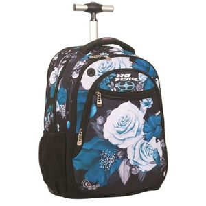 CARTABLE Sac à roulettes No Fear Blue Flowers 48 CM - carta