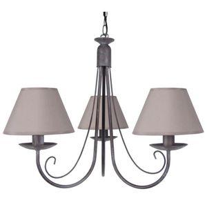 LUSTRE ET SUSPENSION TOSEL Lustre à 3 lumières Baroque E14 7 W