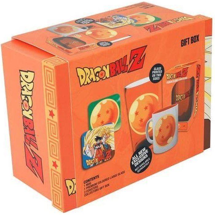 Boîte Cadeau Dragon Ball Z - Mug 300 ml + Verre 500 ml + 2 dessous de verre DBZ - GB Eye