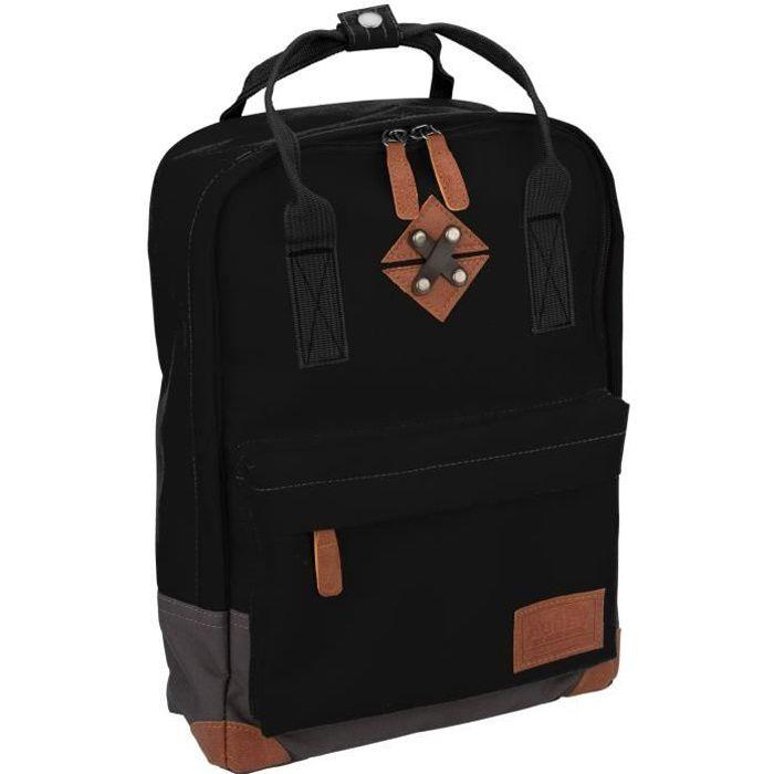ABBEY Petit sac à dos en polyester 300T - Doublure 100% polyester - Dimensions 24 x 10 x 33 cm - Noir