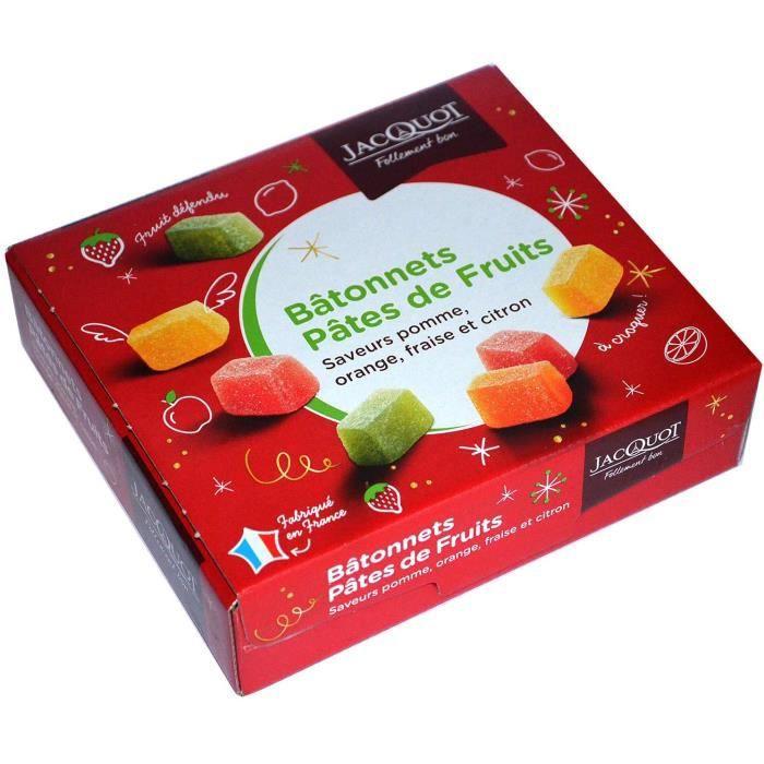 Pâtes de fruits 1 kg, coffret gourmandise pâtes de fruit, Pomme, orange, fraise et citron, coffret gourmandise à déguster ou à offri
