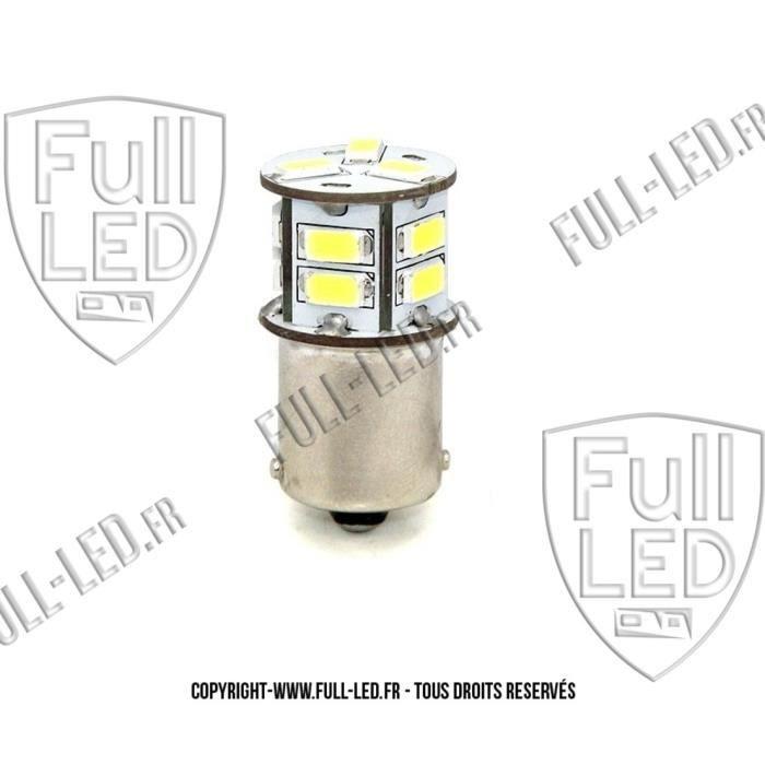 Ampoule Led R5W R10W - BA15S - Blanc Pur - PLAQUE IMMATRICULATION - FEUX DE RECUL